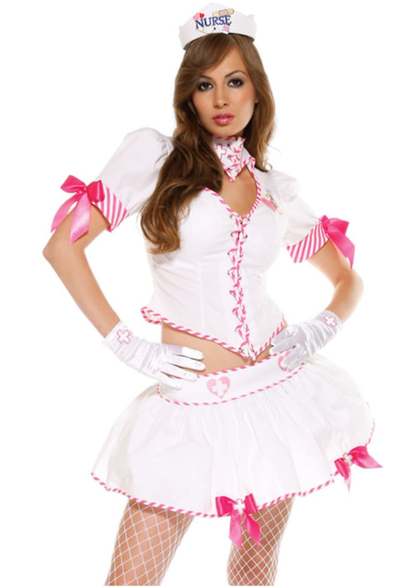 "ForPlay ""Nurse"" fantasy role play costume (3-piece, S/M, M/L)"