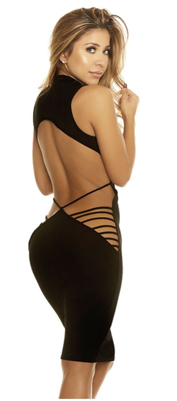 Forplay open back midi-dress from Ginger Candy lingerie