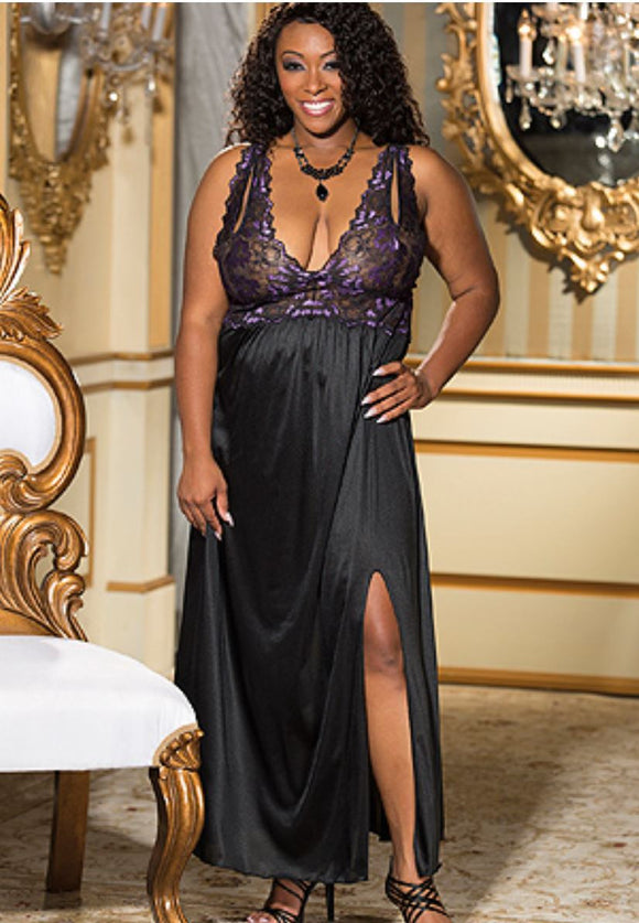 Shirley of Hollywood gown from Ginger Candy lingerie
