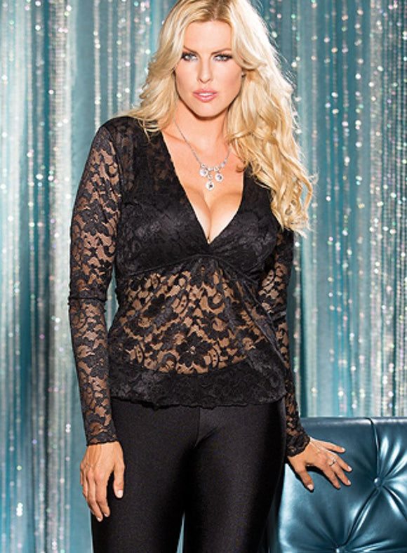Shirley of Hollywood lace top from Ginger Candy lingerie
