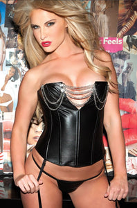 Allure Lingerie leather corset from Ginger Candy