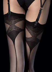 Fiore Luna stockings with backseam from Ginger Candy