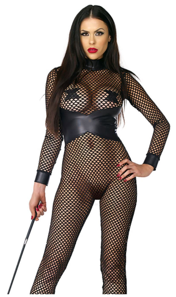 Forplay net catsuit from Ginger Candy lingerie