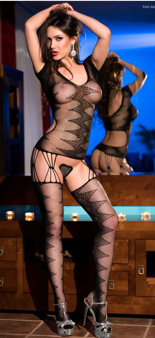 Chilirose bodystocking from Ginger Candy lingerie
