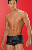 Allure Lingerie men's leather and lycra shorts from Ginger Candy