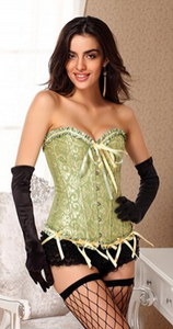 Victorian jacquard tapestry corset bustier | Ginger Candy