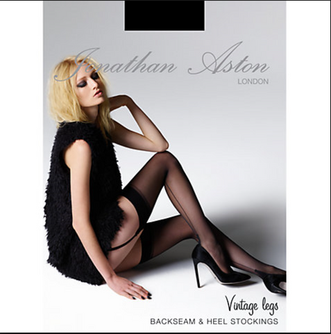 Jonathan Aston backseam and heel stockings from Ginger Candy