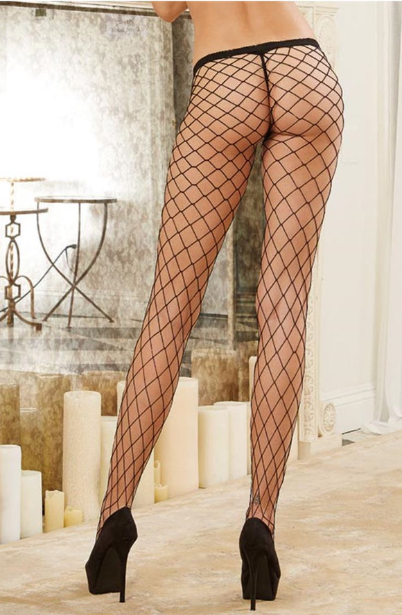 Dreamgirl fishnet pantyhose from Ginger Candy lingerie