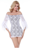 Lace bodycon mini dress in white from Ginger Candy