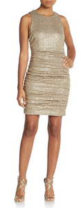 Aidan Mattox sequined shirred dress from Ginger Candy