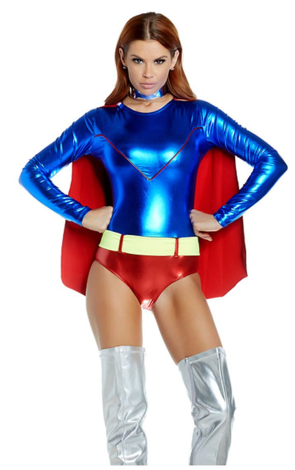 Forplay caped superhero costume from Ginger Candy lingerie