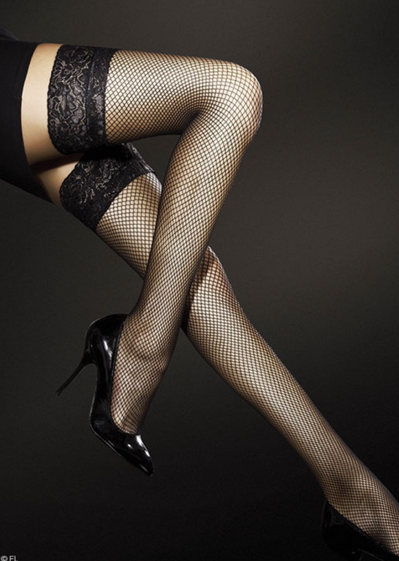 Fiore fishnet hold up stockings from Ginger Candy