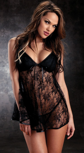Babydoll lingerie in black from Ginger Candy