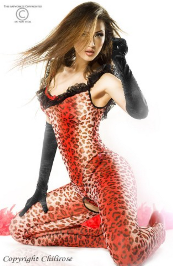 Chilirose catsuit from Ginger Candy lingerie