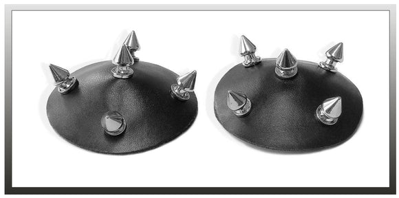 Chilirose metal studded nipple cover pasties from Ginger Candy lingerie