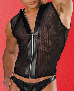 Allure Lingerie men's fishnet tank top from Ginger Candy