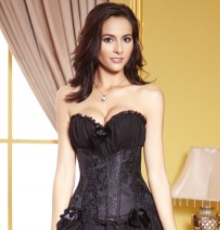 Corset lingerie in black from Ginger Candy