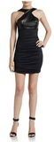 David Helwani ruched mixed-media dress | Ginger Candy