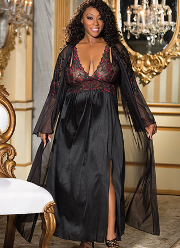 Shirley of Hollywood robe from Ginger Candy lingerie