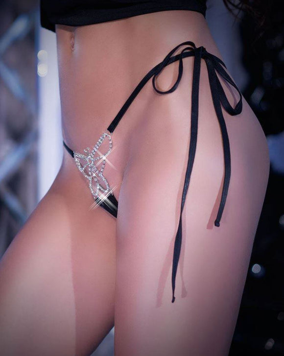 Chilirose butterfly G-string from Ginger Candy lingerie