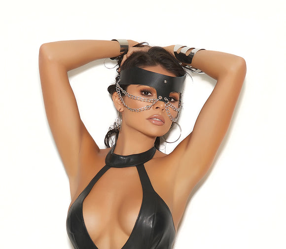Elegant Moments leather chain mask from Ginger Candy lingerie