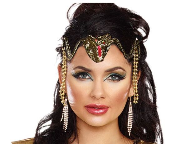 Dreamgirl Cleopatra snake headpiece crown Ginger Candy lingerie