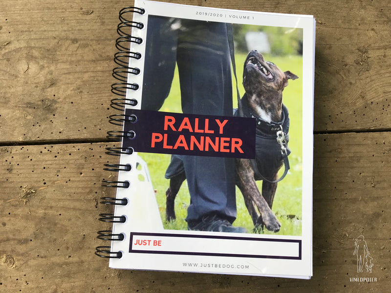 Just Be Dog Planner I Rally