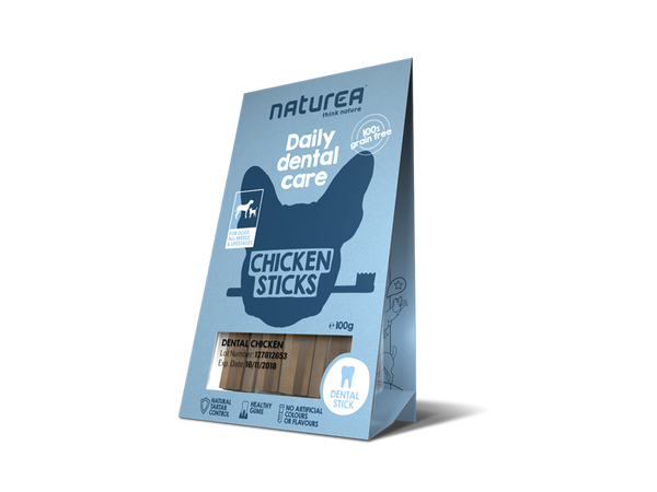 Naturea Snacks I Daily Dental Chicken sticks I 100g - Vimedpoter.dk