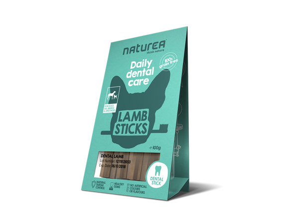 Naturea Snacks I Daily Dental Lamb sticks I 100g. - Vimedpoter.dk