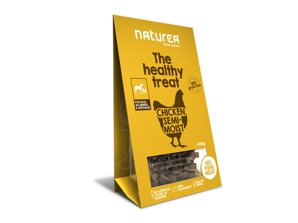 Bløde godbidder I Naturea kylling I The healthy treat I 100g