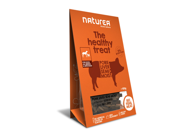 Bløde godbidder I Naturea svinelever I The healthy treat I 100g
