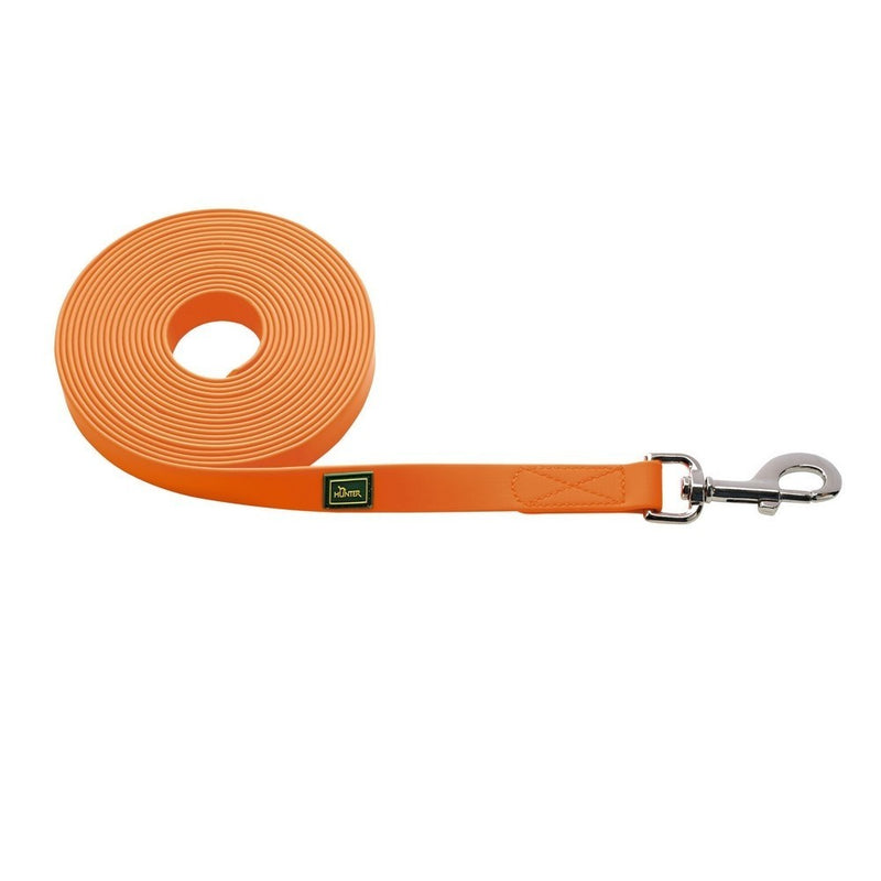 12 meter hundeline I Hunter Sporline i orange PVC - Vimedpoter.dk