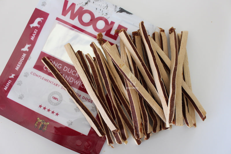 Woolf Hundesnack I Long Sandwich And & Torsk I 100g - Vimedpoter.dk