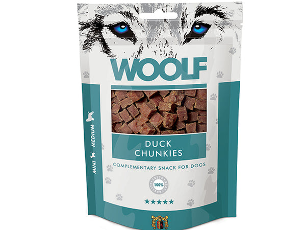 Godbidder med and I Woolf Duck Chunkies I 100g