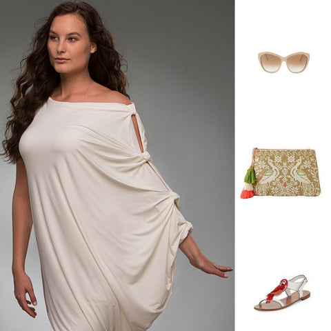 Hoya beige dress