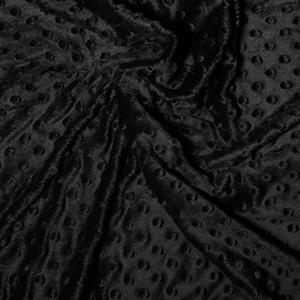 Black fleecy fabric