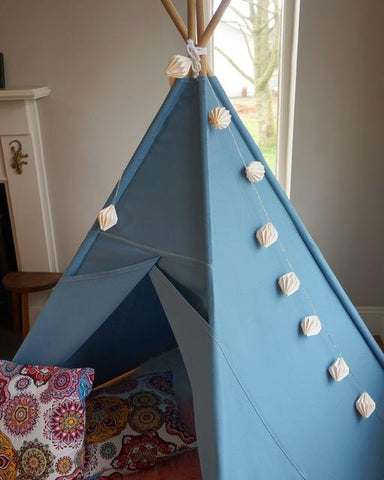 Teepee Tent - The Colour Collection - Slate Blue