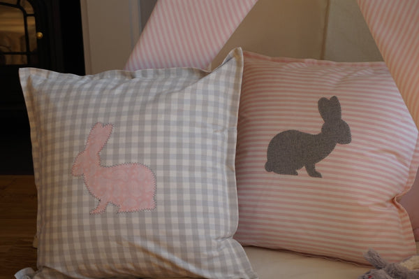 Bunny Cushion.  Made in Ireland.