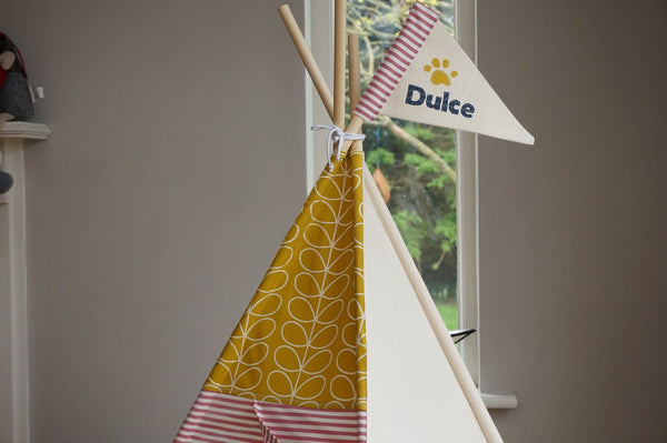 Pet teepee with Orla Kiley fabric