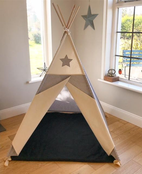 2 tone teepee geometric teepee maple and spud