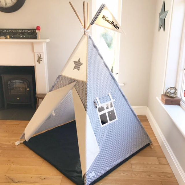 grey and cream teepee maple and spud