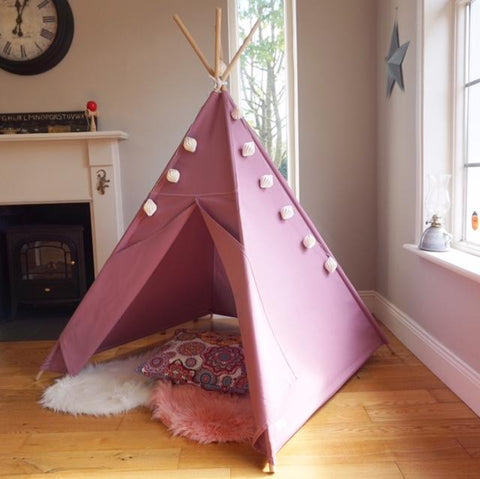 teepee tent in heather colour