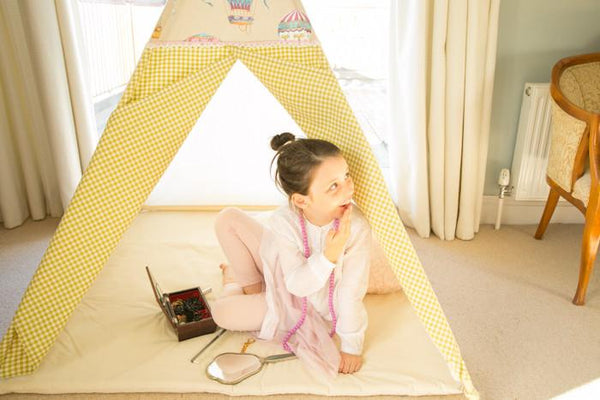 The French Fancy Teepee. Handcrafted in Ireland by Maple and Spud Designs.