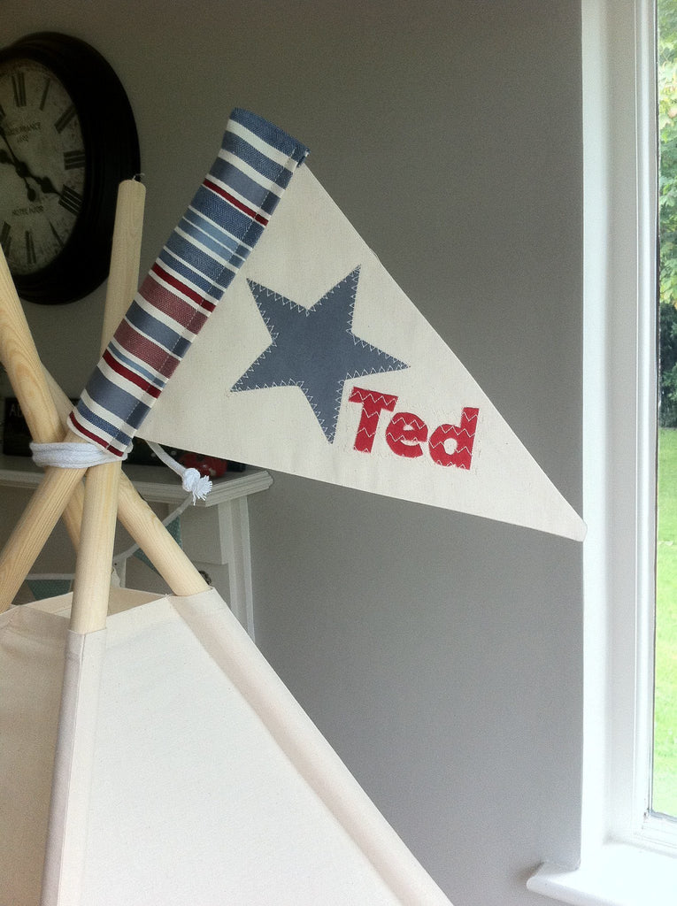 Personalised Teepee flag · Personalised flag for Teepee Tent. & Personalised flag for Teepee Tent. u2013 Maple and Spud