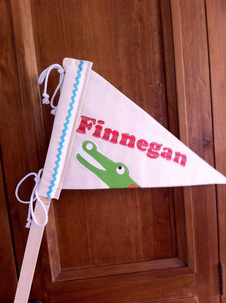 Personalised flag for Teepee Tent.