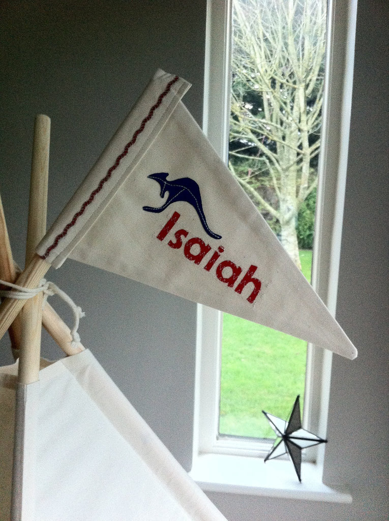 Personalised flag for Teepee Tent. & Personalised flag for Teepee Tent. u2013 Maple and Spud