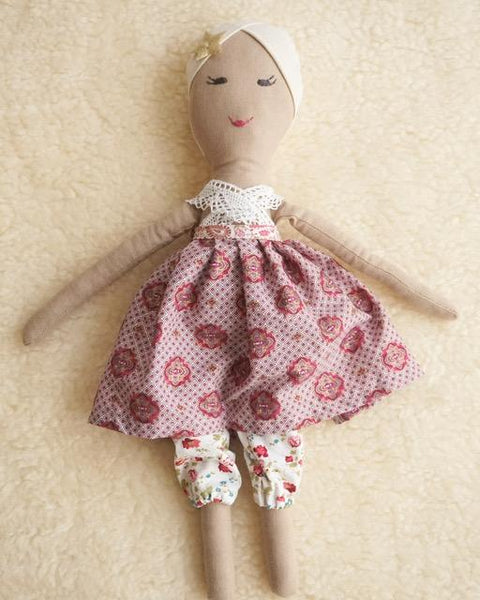 Ava. One of a Kind Heirloom Doll. Handmade in Ireland