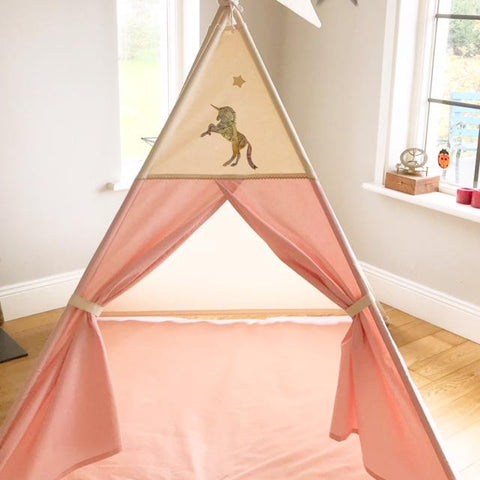 unicorn teepee for girls maple and spud