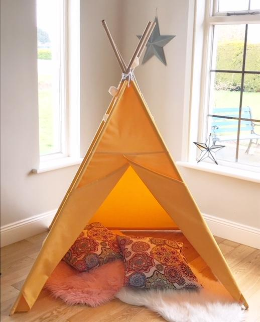 Colourful Teepee (Light Mustard)