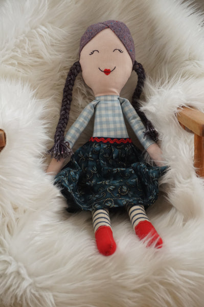 Ruby. One of a Kind Heirloom Doll. Handmade in Ireland
